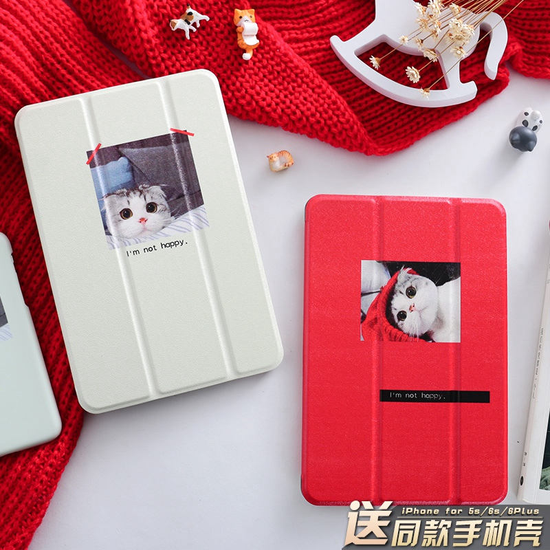 Cartoon Ca't Magnet PU Leather Case Flip Cover For iPad Pro 9.7 10.5 Air Air2 Mini 1 2 3 4 Tablet Case For New ipad 9.7 2017 personal magnet pu leather case flip cover for ipad pro 9 7 10 5 air air2 mini 1 2 3 4 tablet case for new ipad 9 7 2017 a1822