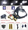 3 Led Headlight  T6 LED Headlamp 4 Modes zoomable Head light2pcs 18650 Batteries/USB/Charger