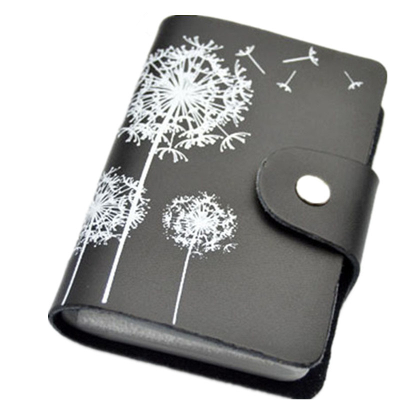 2018 Genuine Leather Print Women Business Card Holder 11 Colors ID Card Credit Card Holder Protector Organizer Card Wallet DC57 unistyle fashion butterfly business card holder card women leather wallet credit card holder book id card case floral cardholder