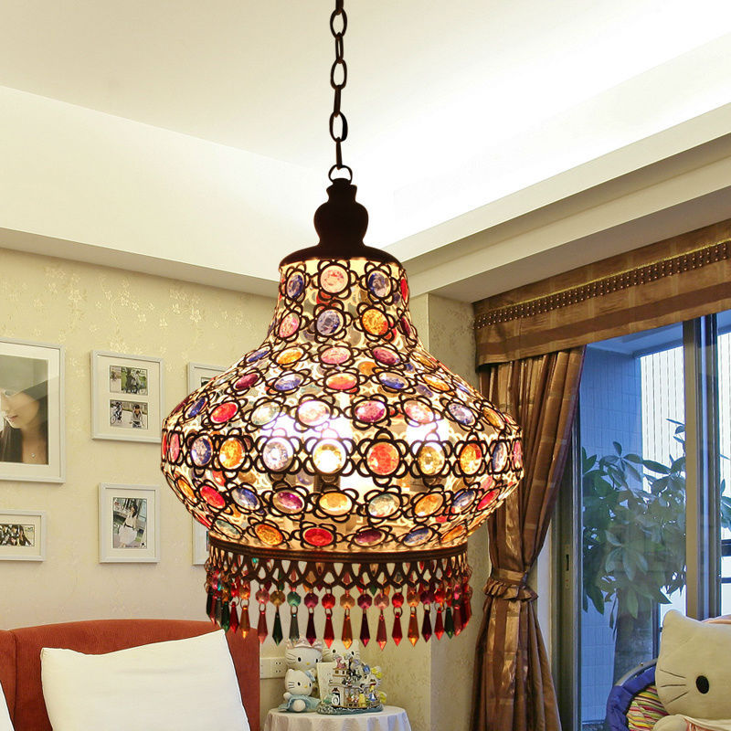 led bulb Exotic porch lights balcony aisle lights lamp cloakroom Arab-style small foyer chandelier D-19 type ceiling lamps aisle lights round corridor lights balcony foyer porch lamp crystal chandelier stairs restaurant