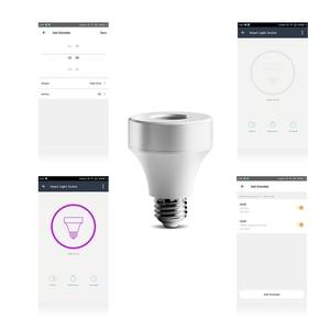 Image 5 - E27 E26 LED Wifi หลอดไฟฐานสวิตช์โคมไฟไร้สายสมาร์ทหลอดไฟ Socket converter สำหรับ Android /IOS