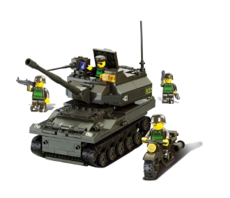 Sluban Model Building Compatible lego Lego B9800 258pcs Model Building Kits Classic Toys Hobbies K-9 tanks military