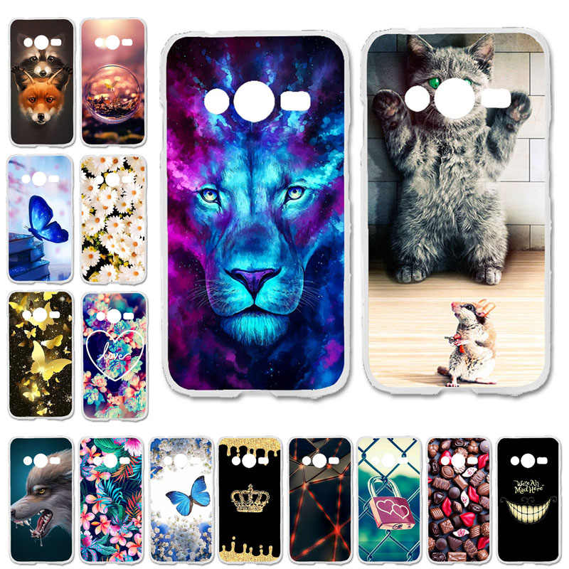 Soft Case For Samsung Galaxy ACE 4 NXT G313 G318H Cases Silicone Cute Cat BumperTrend 2 Lite G313H Ace 4 Lite SM-G313H Covers