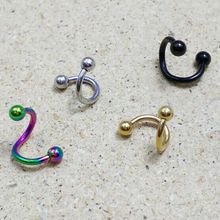 Hot Fashion Black Golden Colorful 4PCS/Set New Stainless Steel Twist Nose Ring Body Piercing Jewelry