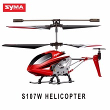 Original SYMA S107W RC Helicopter 3.5CH Infrared Remote Control Aircraft  Shatterproof  Flying Toys Birthday Christmas Gift Toy