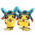 20 cm 8 ''Mega Pikachu Cosplay Brinquedo Lucario Suave Plush Toys Stuffed Dolls Presente Para As Crianças