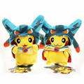 20cm 8'' Mega Pikachu Cosplay Lucario Soft Plush Toys Stuffed Dolls Brinquedo Gift For Kids