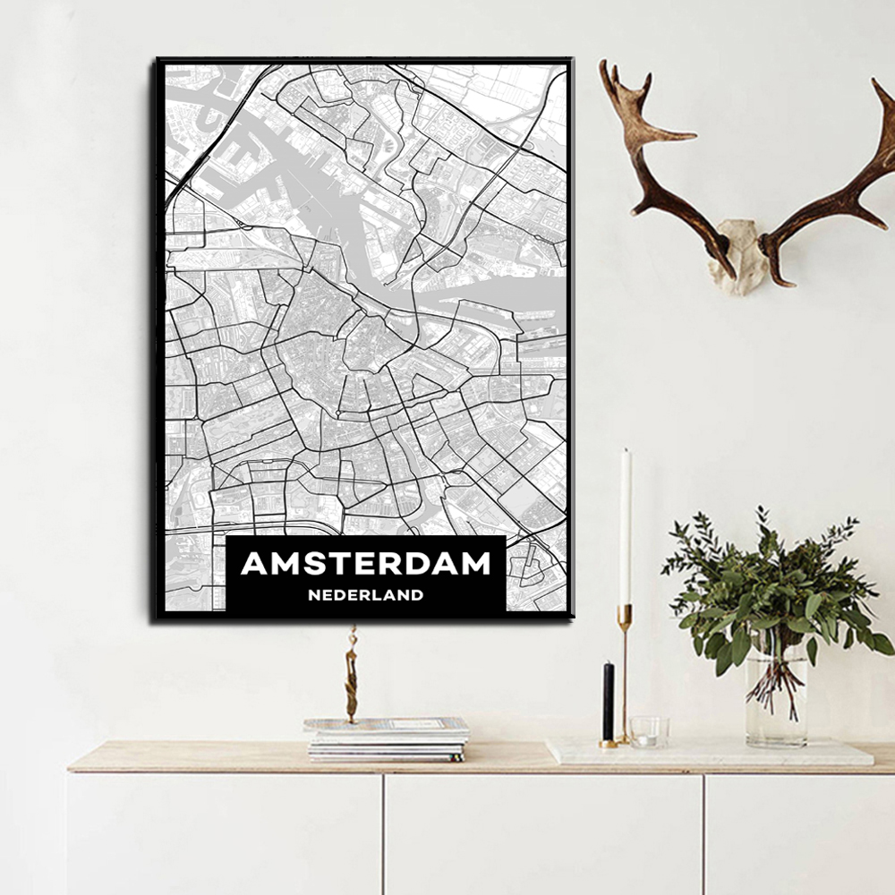 xdr452 Персонализиран MAP печат Creative Nordic - Декор за дома - Снимка 3