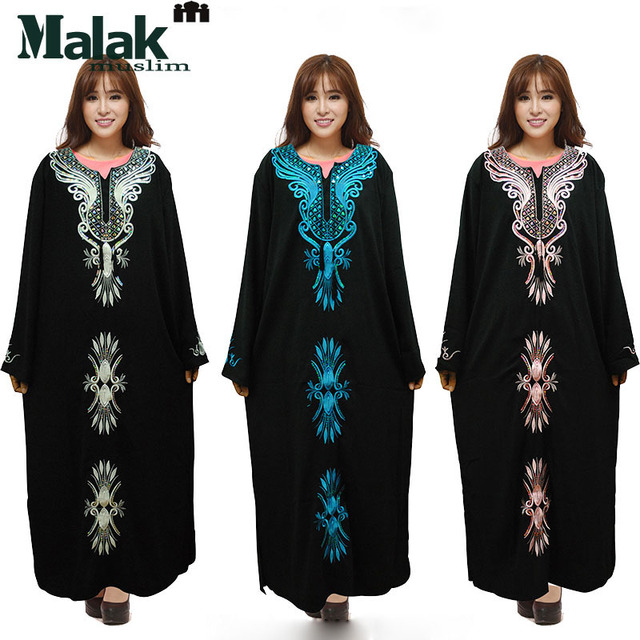 b865dcfa87 Spring and summer autumn clothing large female loose Indonesia and Malaysia Muslim  dress robes Muslim Arab