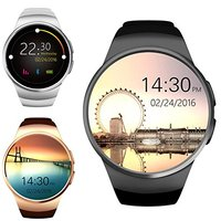KW18 Smartwatch with 1.3 inches Screen SIM Card Slot Sleep Monitor Heart Rate Monitor and Pedometer for IOS and Android