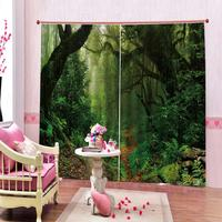 green curtains window curtains for living room bedroom blackout curtains nature scenery forest curtain