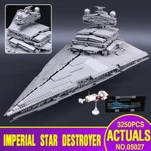 LEPIN 05027 3250 Pcs Star Wars Imperador lutadores Modelo starship Kit de Construção Educacional Blocos Toy Bricks Compatível 10030