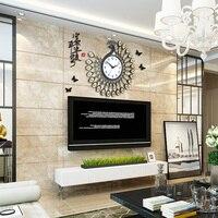 The United States Sata European clock clock peacock modern minimalist living room mute quartz clock watch creative personality w