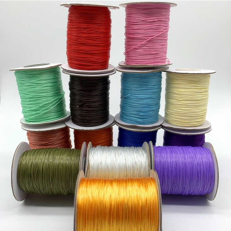 10yards 0.5mm Colorful Waxed Cotton Cord Waxed Thread Cord String Strap Necklace Rope For Jewelry Making For Shamballa Bracelet