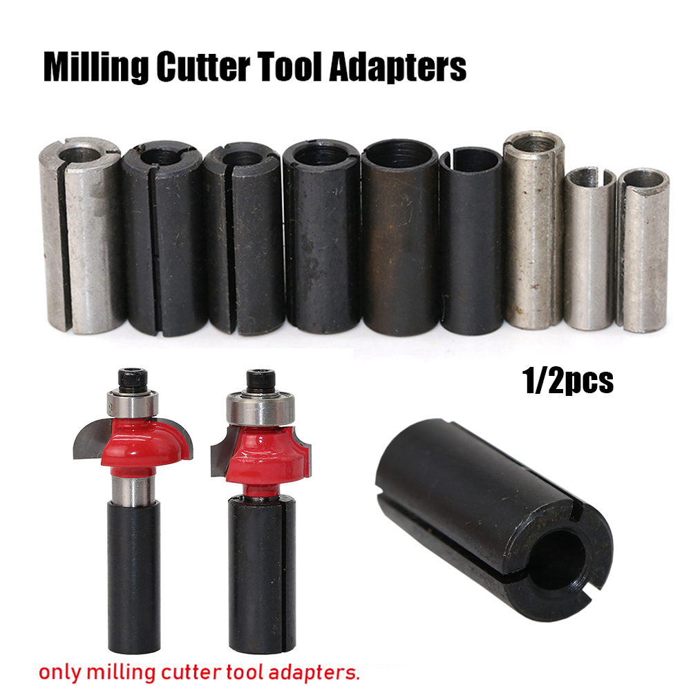 12.7mm to 6.35mm Collet Adaptor Shank Reducer Reducing Bit CNC Router Tool