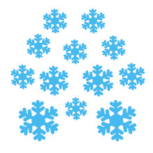 12pcs/pack 3D Christmas Window Wall Snowflake Stickers PVC Fake Wall Stickers For Party Xmas New Year Decoration Free Shipping(China)