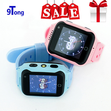 New Arrival 1.44' Touch Screen Kids GPS Watch with Camera Lighting Smart Watch Phone SOS Call GPS Location Finder for Child c0