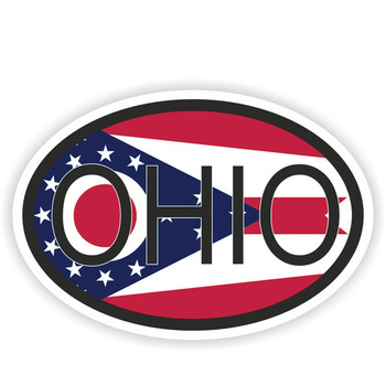 14.5CM*9.7CM Funny Ohio STATE Country Code Car Sticker Helmet Decal 6-1586 image