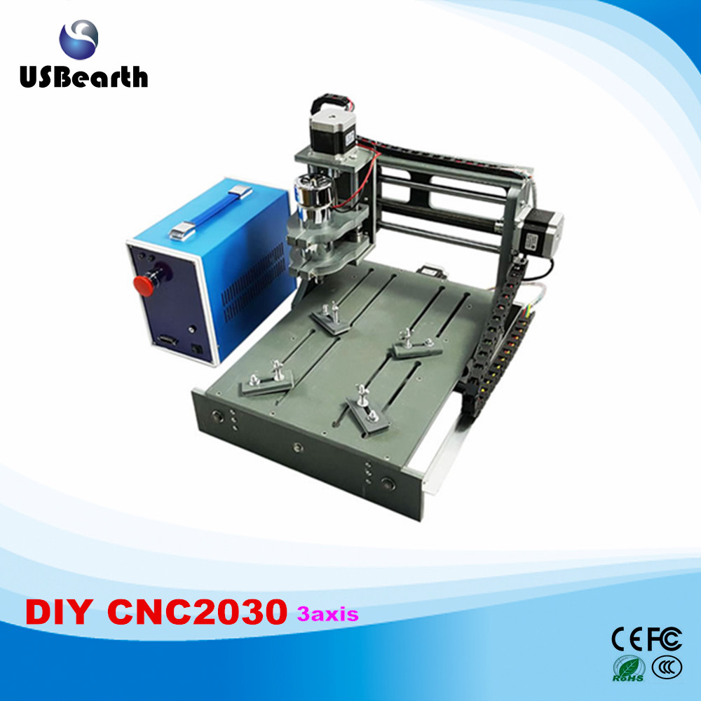 Free tax to RU mini cnc router machine 2030 parallel port 3 axis mini cnc engraver free tax to eu high quality cnc router frame 3020t with trapezoidal screw for cnc engraver machine