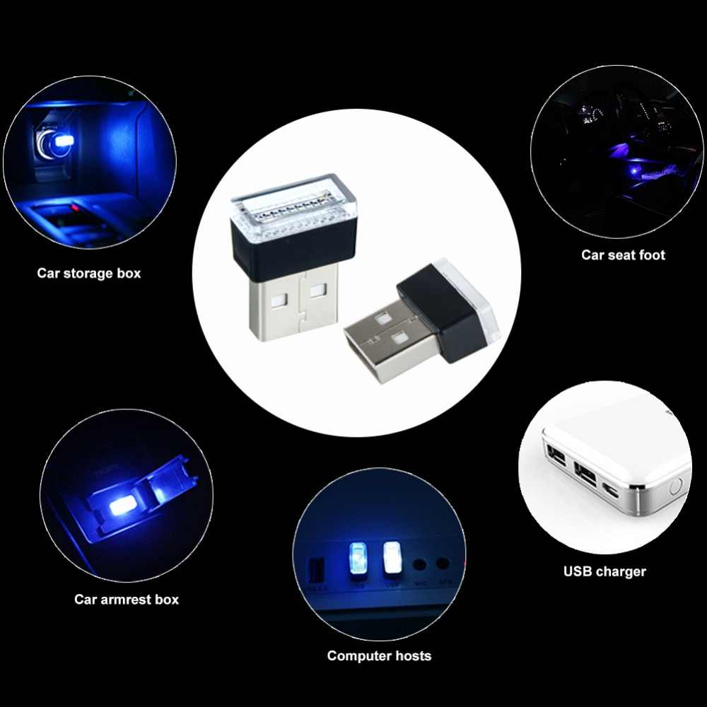 LED Atmosphere Light Bulb USB Socket Cigarette Lighter Decorative Lights Emergency Lighting Fit Foot Lamp styling