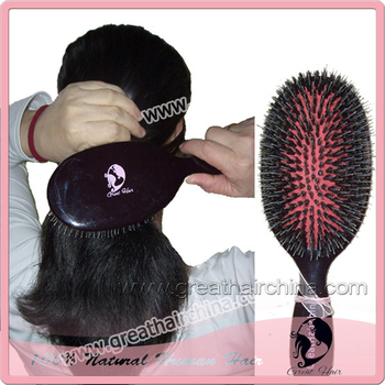 MaterialPS + Boar Bristle Brush 5 Pieces Boar Bristle Hair Extension Brush. Free Shipping +gift