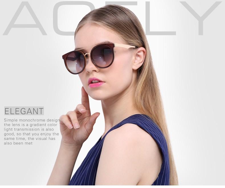638e41ce95 AOFLY Ojo de Gato Gafas de Sol de Espejo Redondo Mujeres del Diseño de  Marca gafas de Sol de La Vendimia gafas de Sol Estilo Retro gafas de sol  UV400
