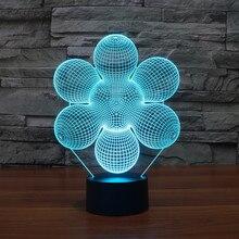 New Colourful Flower font b 3D b font Table Lamp Luminaria font b LED b font
