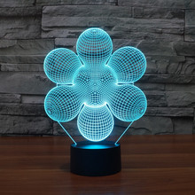 New Colourful Flower 3D Table Lamp Luminaria LED Night Light Kids Children's Room Decorative lighting Great Gift