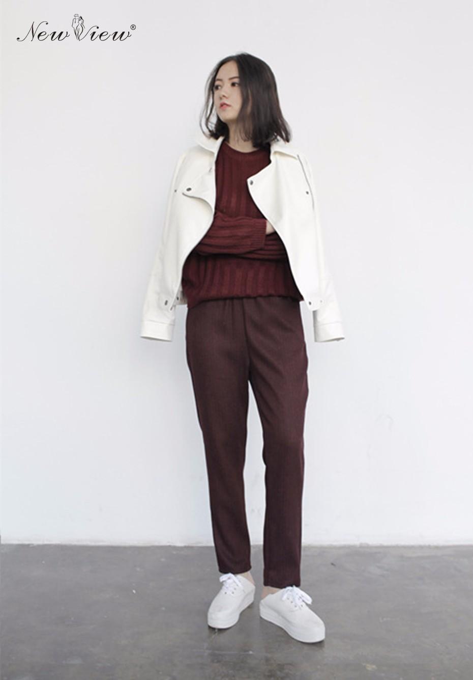 PU leather coat