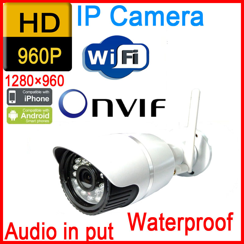 ФОТО Free shipping 960p 1.3MP hd waterproof infrared home wireless cctv system outdoor weatherproof onvif wifi camera