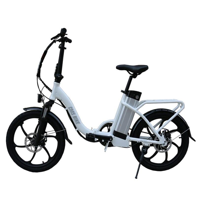 20-pouces en alliage d'aluminium pliant vélo électrique fille ville au lithium batterie électrique bicycle36V350W moteur max-vitesse 25 km/h ebike