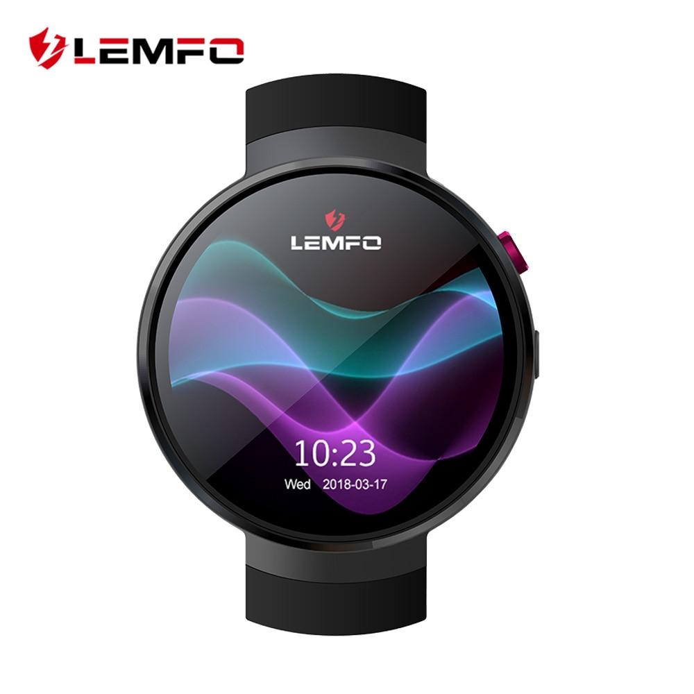 LEMFO Relógio Inteligente Android 7.1 Smartwatch LEM7 LTE 4G Inteligente Telefone Do Relógio da Frequência Cardíaca 1 GB + 16 GB ferramenta de Tradução de memória com a Câmera