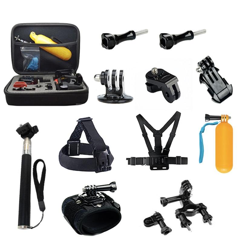 Tekcam Accessoires Kits pour Gopro hero 7 Aller pro 6/5/4/3 plus/3 hero 5 session pour xiaomi yi/yi 4 k plus/yi lite/sj4000