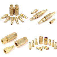 10pcs Brass Quick Release Coupler Set 1 4 Air Hose Connector For Fitting NPT Connectors Tools