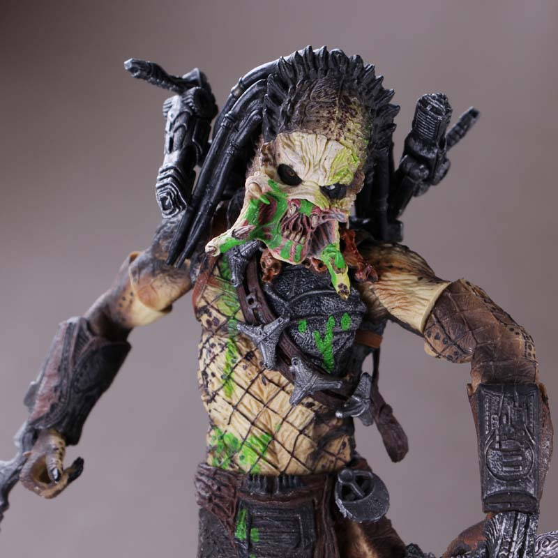NECA Aliens vs. Predator 7 inches 21cm Lone wolf predator stealth edition predator alien ganso elders lone wolf mask film may be moving even hand model h28