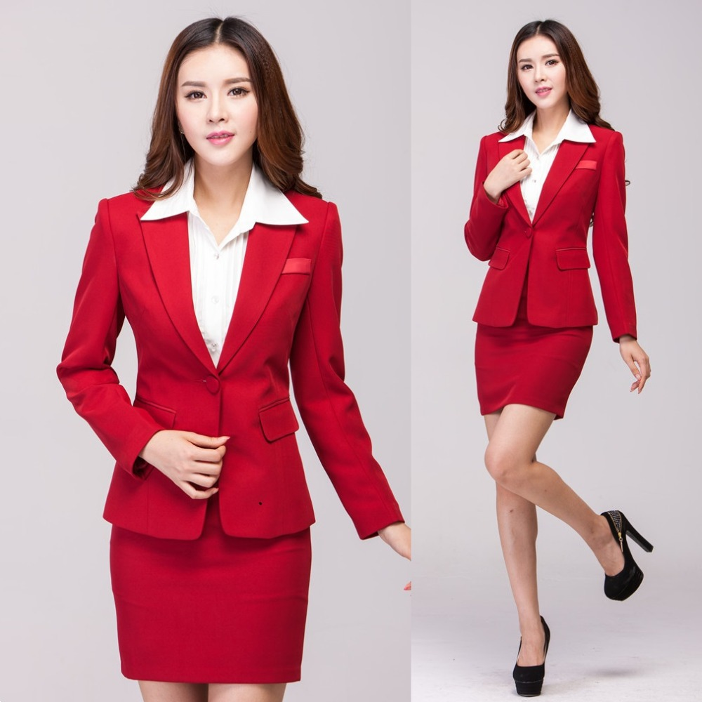 Online Get Cheap Office Uniform for Women Red -Aliexpress.com ...