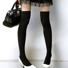 Women's Cotton Sexy Thigh High Over The Knee Socks Long Stockings For Ladies JL