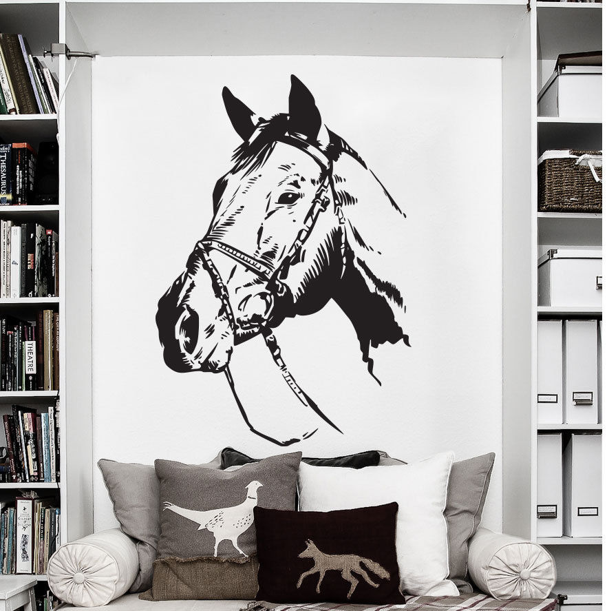 73X50cm Farm Ranch Animal Horse Wall Decal Art Decor