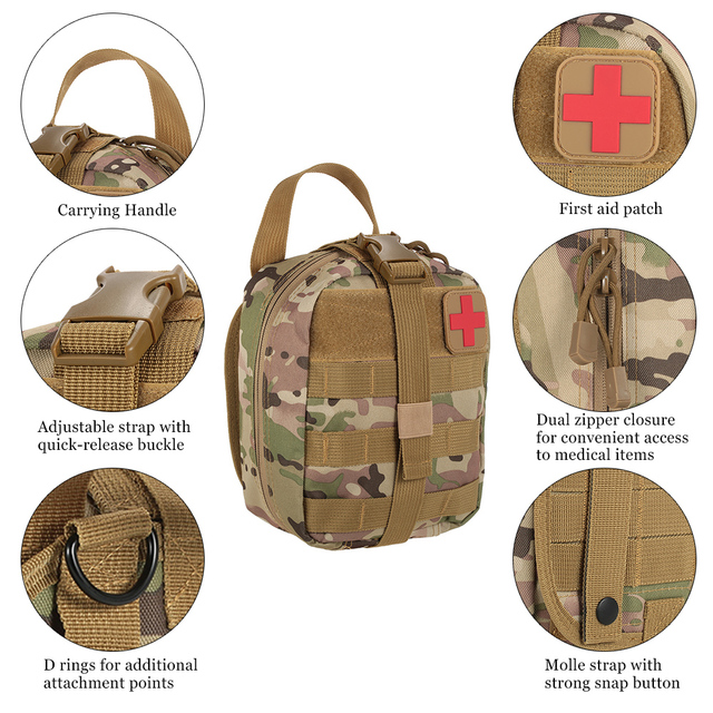 Tactical Pouch Medical First Aid Kit Patch Bag