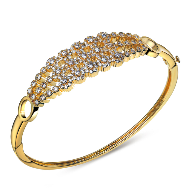 Highly recommended gorgeous bangle! Must buy item Holidays special Triple layers Top quality cz stones Women bangles