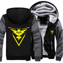 USA size Pokemon Go Team Valor Team Mystic Team Instinct Cosplay Jacket Sweatshirts Thicken Hoodie Zipper Coat