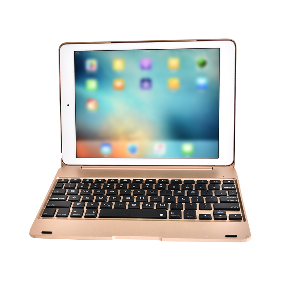 F19B Smart Keyboard Case Flip Cover Ultra-slim BT keyboard Wireless BT Keyboard Case for iPad Air 1 2 5 6 Pro 9.7