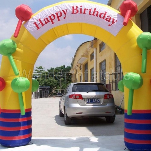 Хит продаж индивидуальные 3x3 м конфеты надувные арки для день рождения украшения