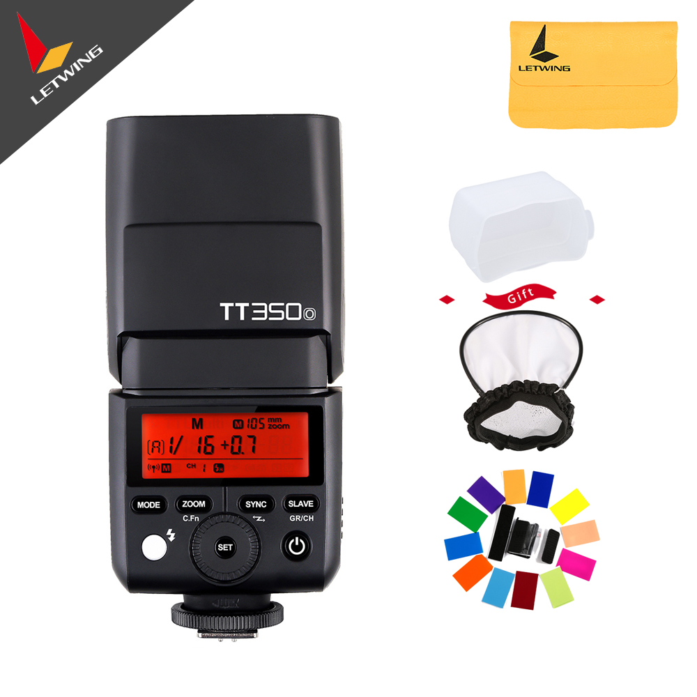 Godox Mini Thinklite TTL TT350o Camera Flash High Speed 1/8000s GN36 for Olympus or Panasonic Mirrorless Digital Camera godox mini thinklite i ttl tt350n camera flash high speed 1 8000s gn36 for nikon digital camera