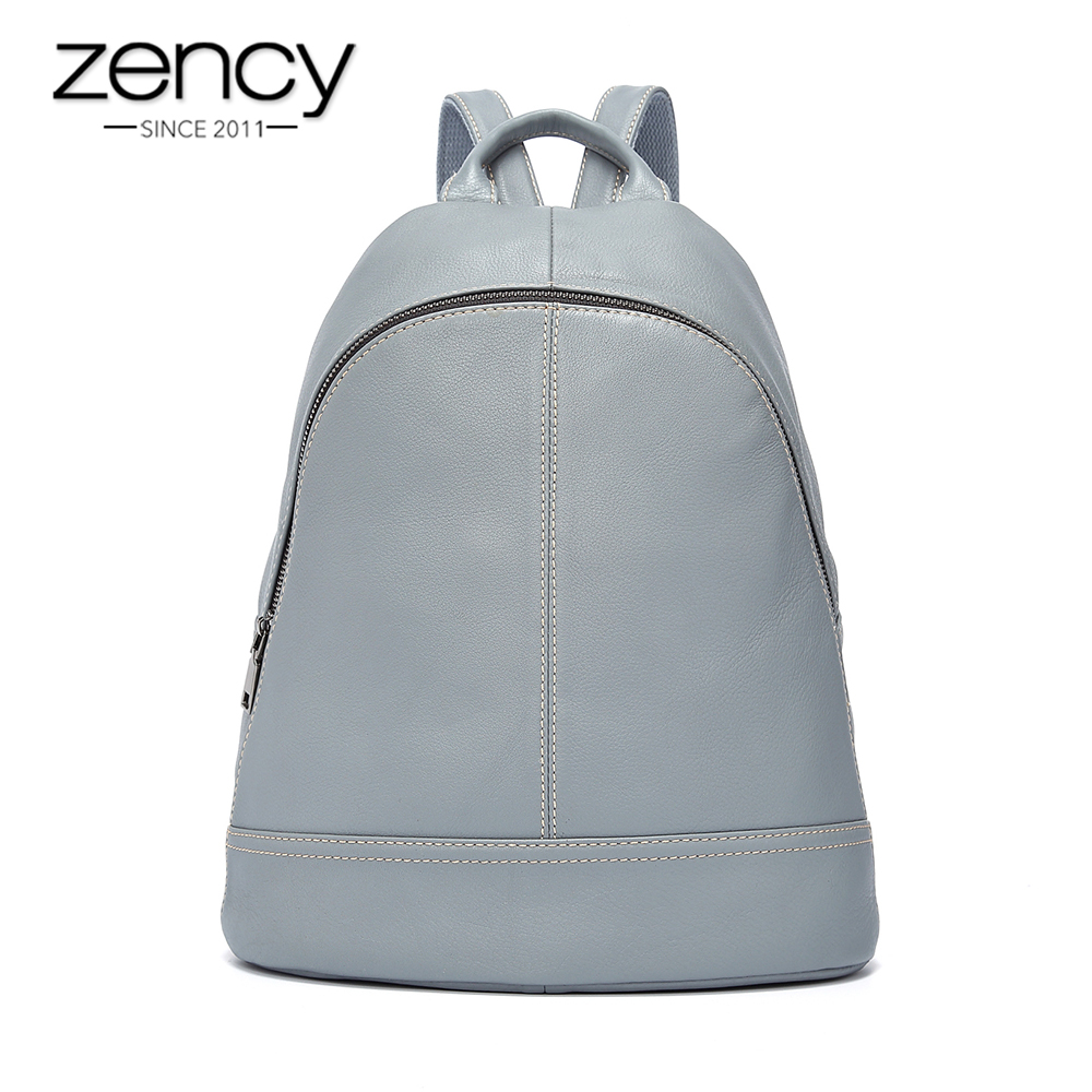 5 Colors Zency Brand Top Selling Women Backpack Preppy Style Travel School Bag For Teenager Girls 100% Genuine Leather Soft Skin
