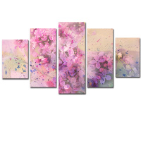5D DIY Diamond Painting 5 Pcs Sakura Full Diamond Home Living Room Home Decor Painting Wall