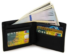 Genuine Leather Short Design Wallet Mens New Style Business Black Color Card Holder Casual Classic 8086A