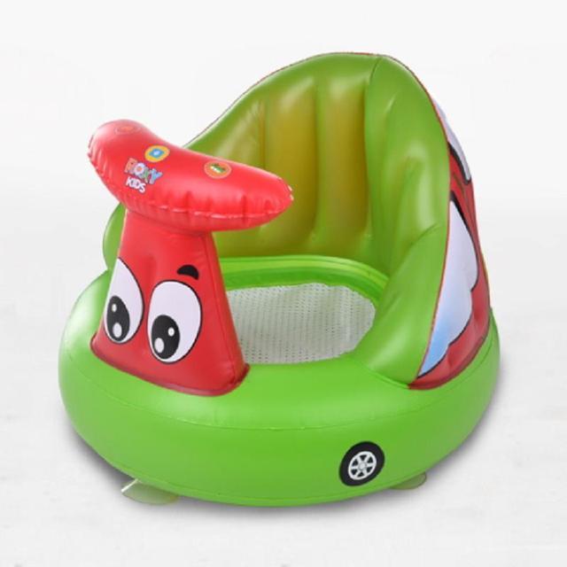 Bebê infantil Cadeira Inflável Sofá Almofada Fezes Dos Desenhos Animados Cores Aleatórias