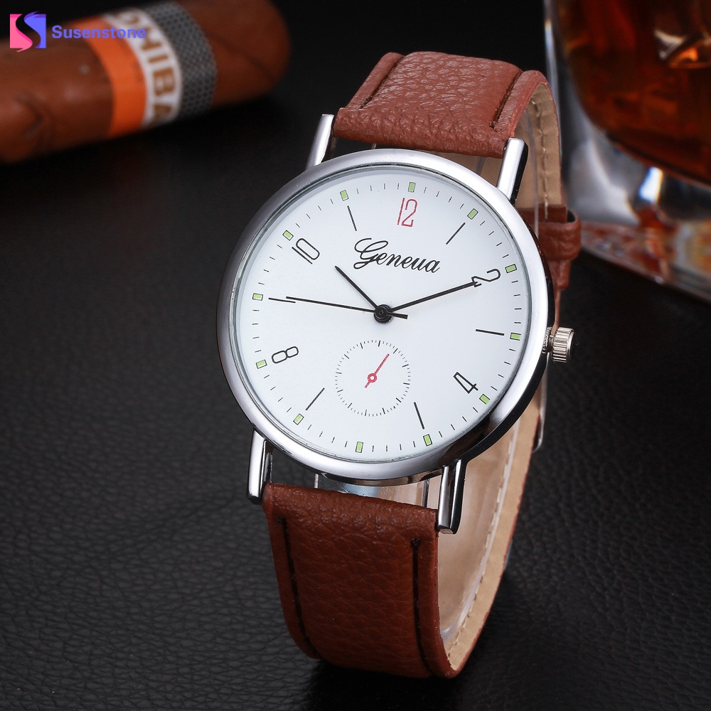 Cheap Hot New Womens Watches PU Leather Analog Quartz Wrist Watch Geneva Ladies Casual Watch Relogio Feminino Hour Clock Fashion hot new fashion quartz watch women gift rainbow design leather band analog alloy quartz wrist watch clock relogio feminino