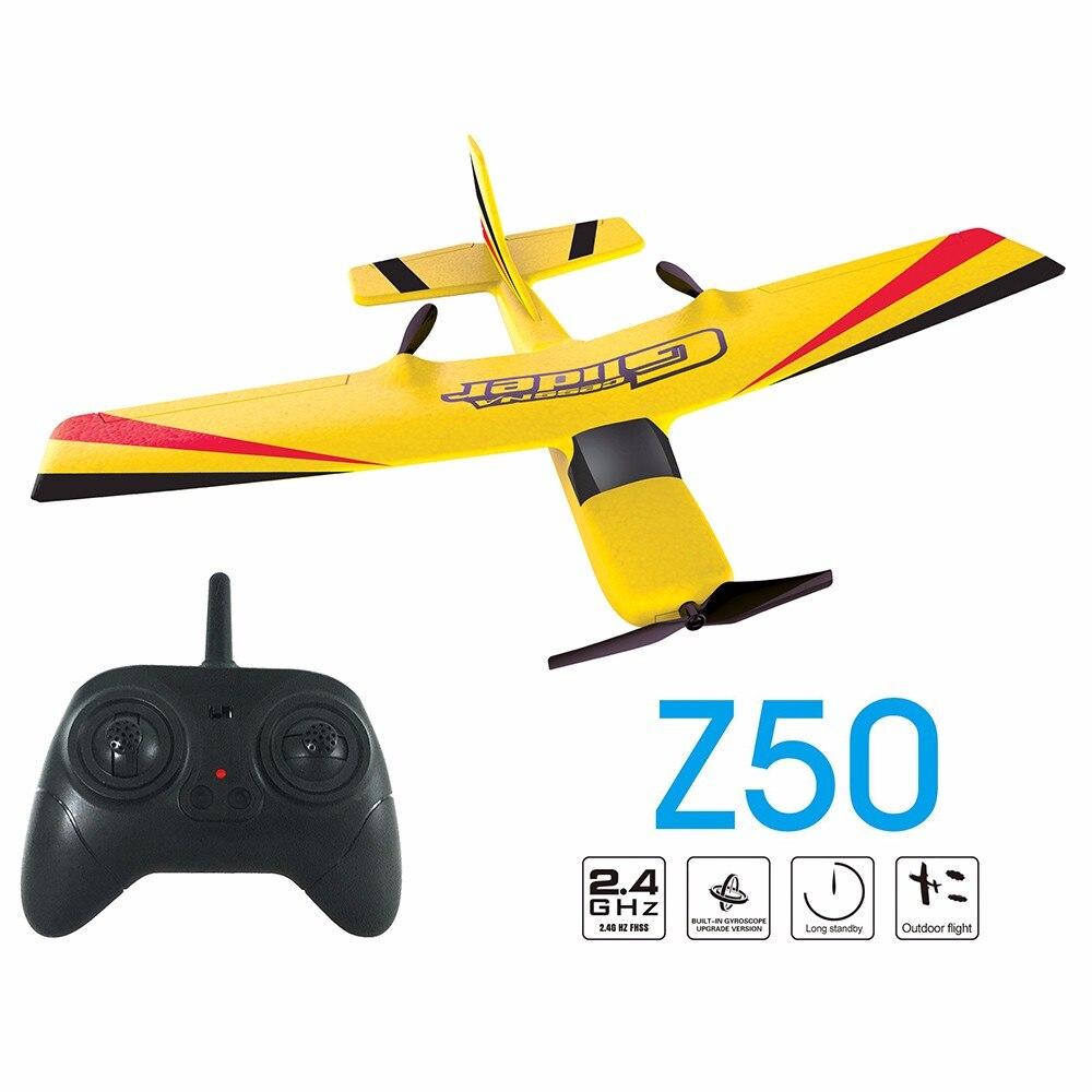 Z50 RC avion EPP mousse planeur avion gyroscope 2.4G 2CH RTF télécommande avion envergure drôle garçons avions jouets intéressants